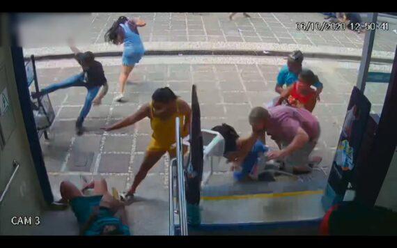 Imagens de câmera segurança do dia do crime